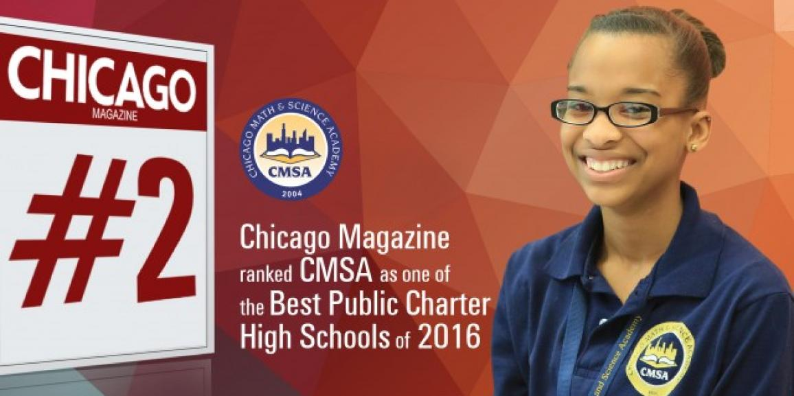CMSA Ranked among Best Public Charter High Schools by Chicago Magazine
